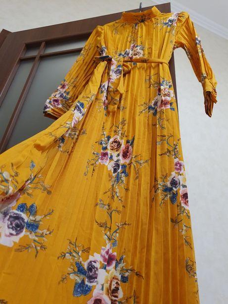 Платье макси не zara mango