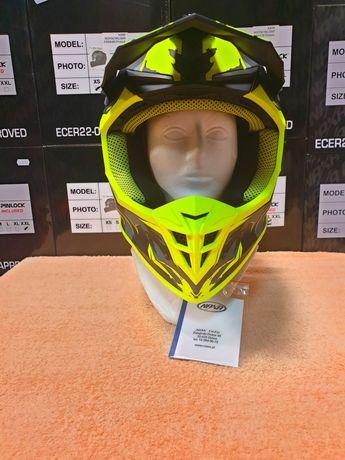 NAXA C10/F MAT Kask motocyklowy Cross Quad ATV S-XXL