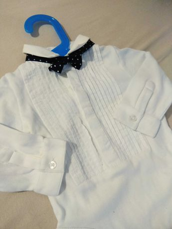 Ubranko do chrztu koszula 74 body wizytowe