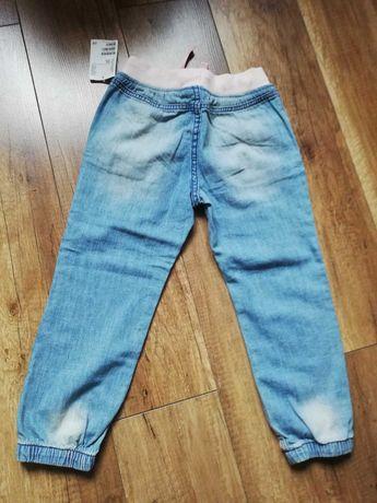 Spodnie jeansowe dla dziewczynki H&M roz. 104