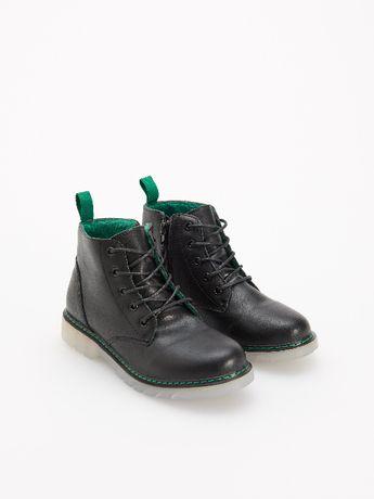 Кожаные демисезонные ботинки стелька 18 см Reserved