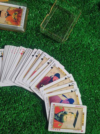 Karty do gry z chńskimi cesarzami