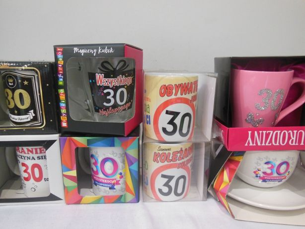 Kubki na 30, prezent, urodziny, upominek, impreza