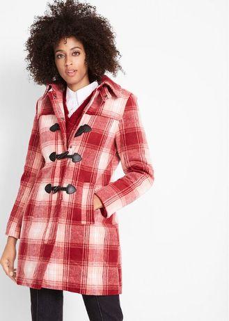 nowy płaszcz w kratę 44
