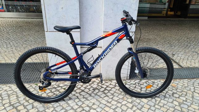 Bicicleta Rockrider St 540 S, suspensão total. Tamanho L. Como nova