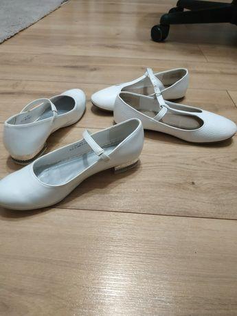 Buty białe, baleriny, do komunii