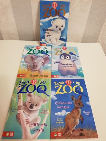 Zosia i jej ZOO Komplet 5 książek po 5 zł za sztukę