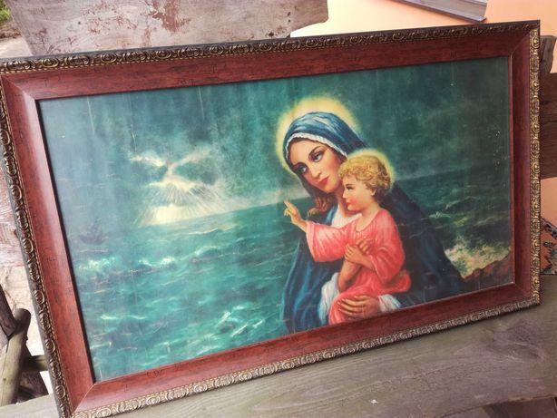 Bardzo ładny, duży obraz o tematyce religijnej