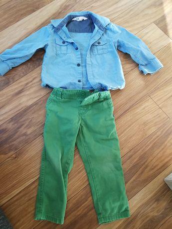 Zestaw koszula h&m i spodnie reserved, jak nowe