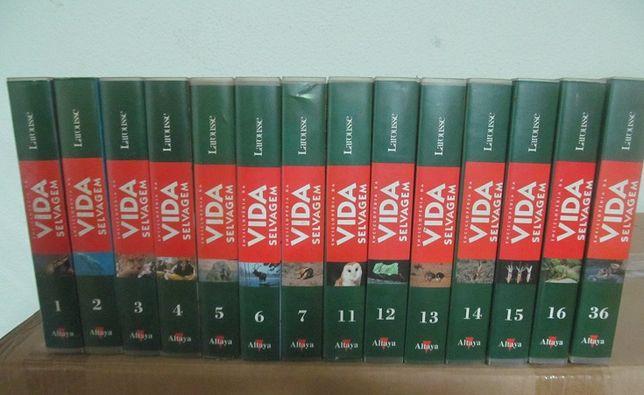Colecção em 14 cassetes VHS, ENCICLOPÉDIA DA VIDA selvagem