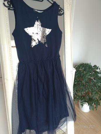 Sukienka H&M dla dziewczynki z tiulowym dolem