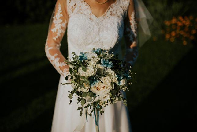 Suknia ślubna, biała, koronka księżnej Kate Middleton 36/38 S/M