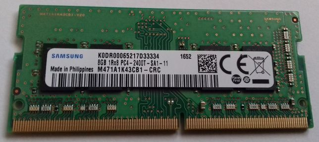 Memoria SODIM Samsung 8Gb DDR4-2400