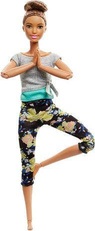 Кукла Барби йога Безграничные движения Barbie Made to Move шатенка