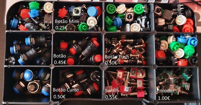 Vários tipos de Botões / Switch / Encoders