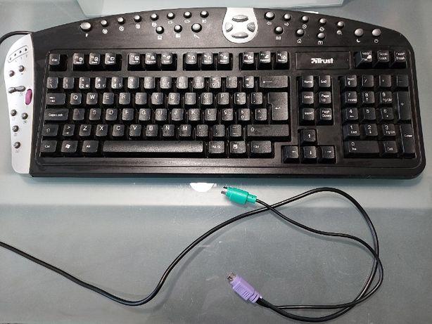 Teclado computador TRUST modelo 365L Easyscroll Optical Deskset