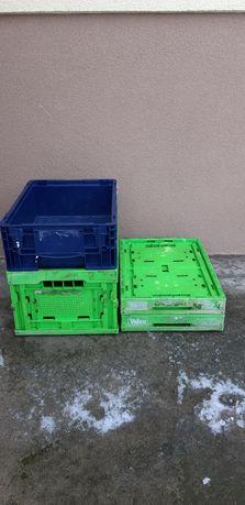 Pojemniki R-KLT skrzynki magazynowe plastikowe 40x30x15cm 40x30x22cm