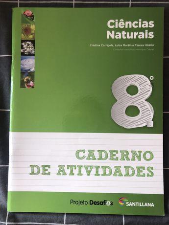 Caderno livro de actividades ciências naturais 8.º ano