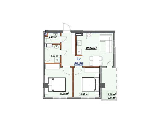 Компактна 2-кімнатна по вулиці Целевича! Сучасне планування.