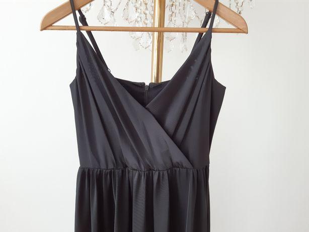 H&M Madonna 36/38 sukienka wizytowa midi ciążowa na ramiączkach