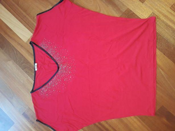 Nowa Letnia bluzka w pięknym czerwonym kolorze