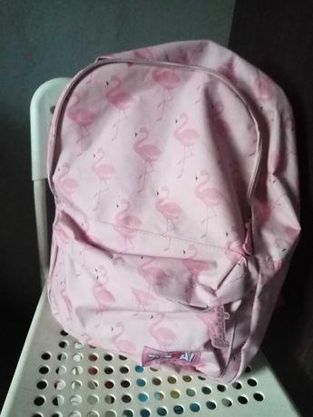 Różowy plecak szkolny młodzieżowy flamingi