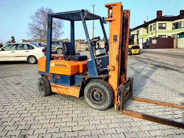 wózek widłowy diesel TOYOTA 02-5FDF20 3.30m 2000kg 9600mtg linde still