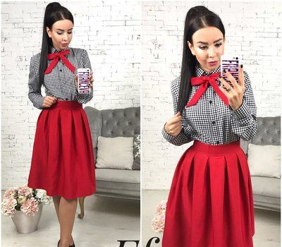 Костюм (сорочка + сукня+бант)