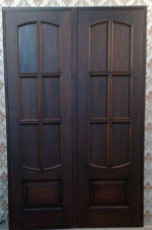 Двери деревянные ванна/туалет