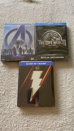 Filmy Blu-Ray Avengers, Shazam, Jurassic Park