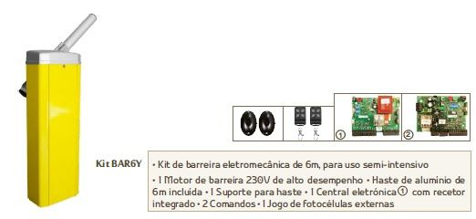 Kit Barreira Electromecânica BAR6Y AUTOMATEASY