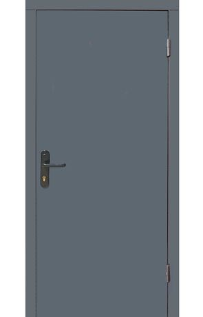 Двері Технічні 2 листа металу сірі