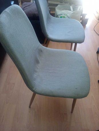 Krzesła JYSK dwa szare używane