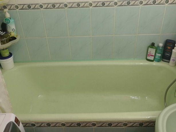 Ванная чугунная, без сколов, салатового цвета, б/у