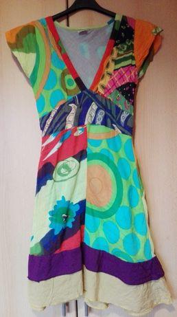 Piękna letnia sukienka w stylu Desigual rozmiar S