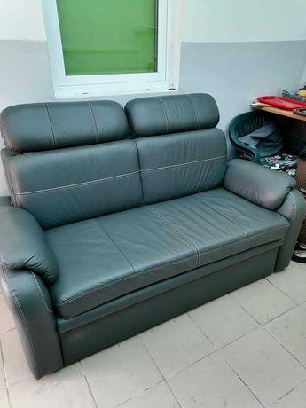 Sofa ze skóry naturalnej