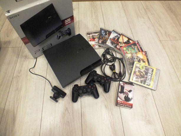 Zestaw PS3 Slim 320gb 2xpad 7 gier kamerka REZERWACJA