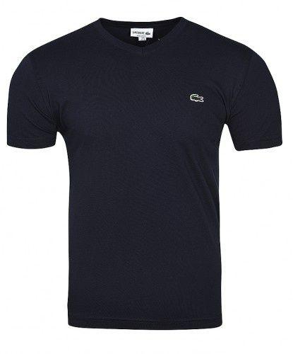T-shirt męski Lacoste v-nec szara, granat S, M, L, XL Warszawa - image 1