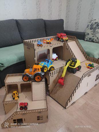 Большой гараж сто для машин