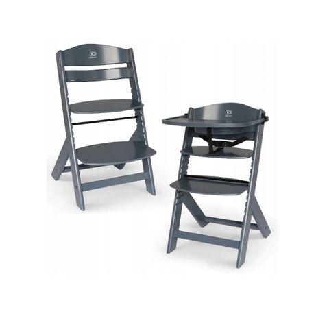Krzesełko do karmienia KINDERKRAFT ENOCK 3w1 Szare Dostawa od 0zł