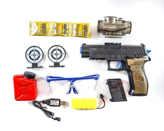 Pistolet automat na kulki żelowe-zestaw p226-nowa zabawka