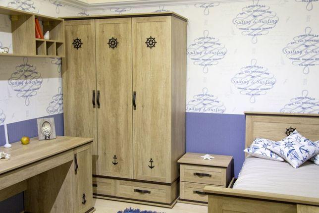 Детская комната Skipper кровать стеллаж шкаф тумба Аквародос