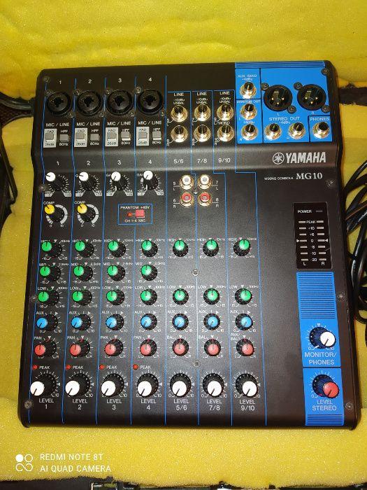 Mikser audio Yamaha MG 10 + walizka Jak NOWY!!! Polecam!!! Zarębki - image 1