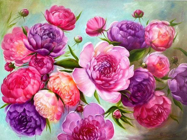 """Картина маслом """"Вальс цветов"""""""