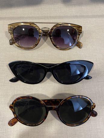 3 pares óculos de Sol