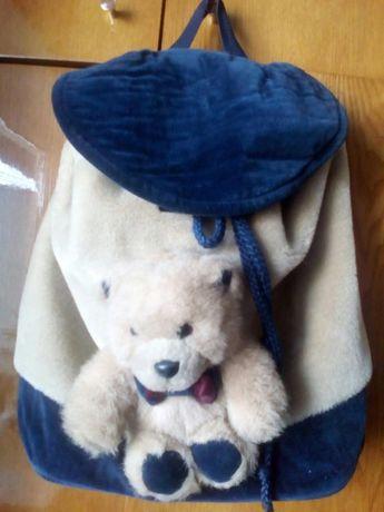 Детский зимний рюкзак Мишка