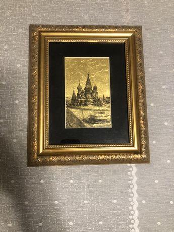 Продам картину на сусальном золоте