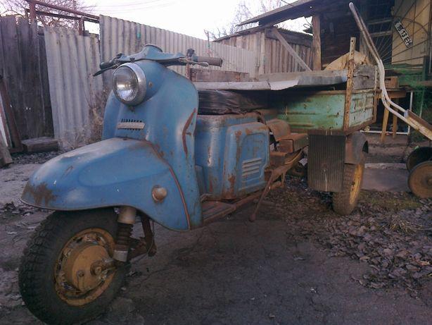 Продам или поменяю мотороллер Турист 200М и Муравей.