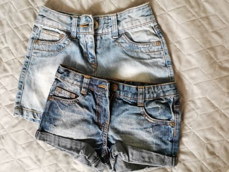 Krótkie spodenki jeansowe NEXT, 110-116 cm (3 pary)