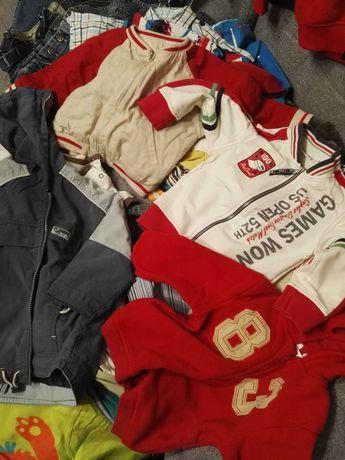 Mega paka 62 szt dla chłopaka r 86 ubrania ciuszki zestaw